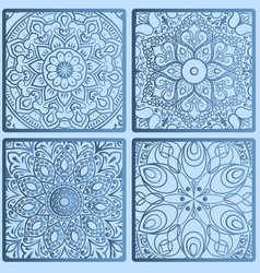 floral seamless pattern from squares vector image