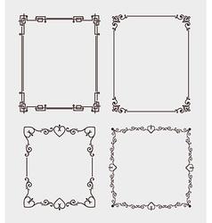 Frame card design vector image