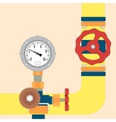 Gas pipeline under control vector