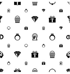 gift icons pattern seamless included editable vector image