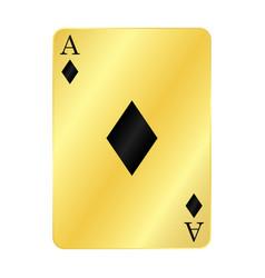 Gold ace diamonds vector
