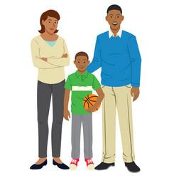Happy family cartoon vector