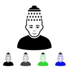 head shower flat icon vector image