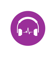 headset icon isolated flat simple vector image