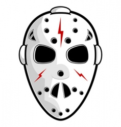 hockey mask vector image