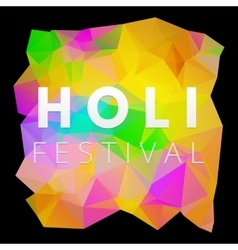 Holi low poly poster vector image