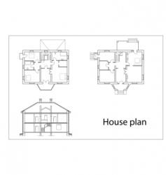 House plans vector