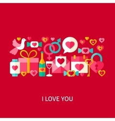 I Love You Greetings Concept vector image