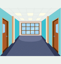 Interior of empty hallway vector