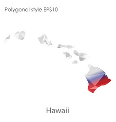 Isolated icon hawaii map polygonal geometric vector