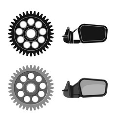 Isolated object of auto and part symbol set of vector