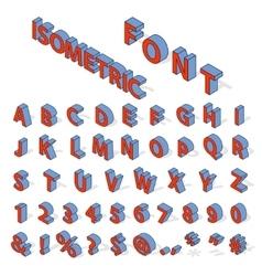 Isometric alphabet font vector image