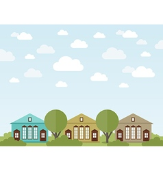 Landscape of houses2 vector image