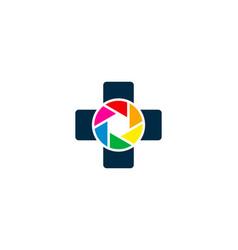 lens medical logo icon design vector image