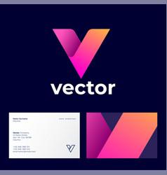 logo abstract monogram consist ribbons vector image