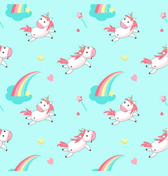 Magic unicorn seamless pattern vector