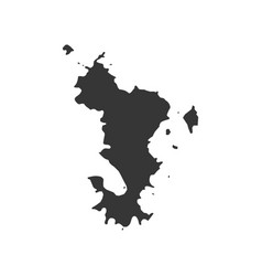 Mayotte map outline vector