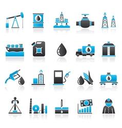 Oil industry Gas production transportation vector