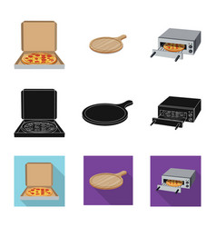 Pizza and food logo set of vector