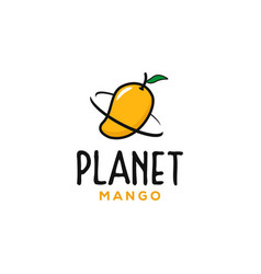 planet mango logo designs inspirations vector image