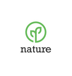 plant nature symbol web icon logo template design vector image