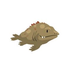 Prehistoric fish biology evolution stage vector