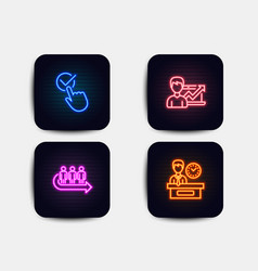 queue checkbox and success business icons vector image