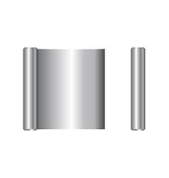 Realistic roll aluminium foil icon vector