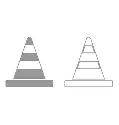 road cone it is black icon vector image