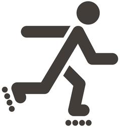 Roller skates icon vector