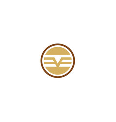 round v stripe logo vector image