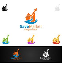 Save marketing financial advisor logo design vector