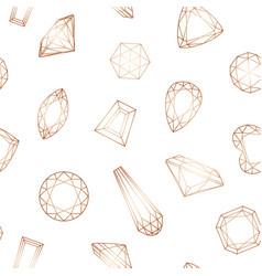 seamless diamond pattern with gemstones vector image