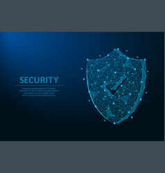 security shield safety concept made by points vector image