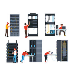 servers digital information storage internet vector image