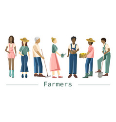 set farmer people with different occupations vector image