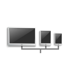 Set of modern digital devices vector image