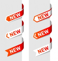 sign new on the arrow vector image
