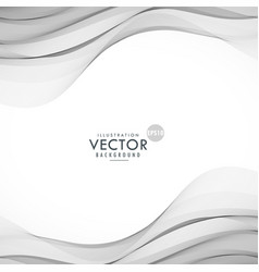 smooth gray wave background vector image