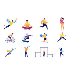 sport and lifestyle set vector image