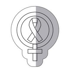 Sticker silhouette symbols female and breast vector