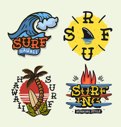 surfing style surf summer time beach life vector image
