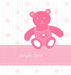 Teddy bear page vector