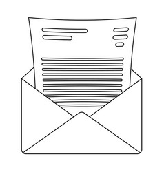 the envelope with the letter insidea letter for vector image