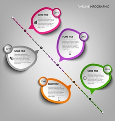 Time line info graphic with design stickers vector