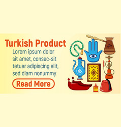 turkish product concept banner cartoon style vector image