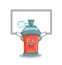Up board aerosol spray can character cartoon vector