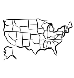 USA sketch map vector
