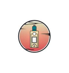 vaporizer electric cigarette vapor vape mod vector image