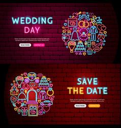 Wedding website banners vector